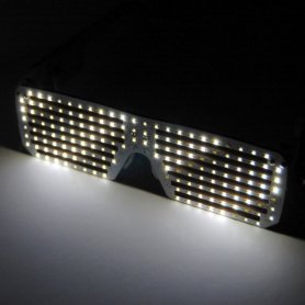 LED party glasses with own scrolling text