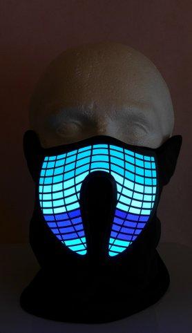 Rave máscara facial Ecualizador - sensible al sonido