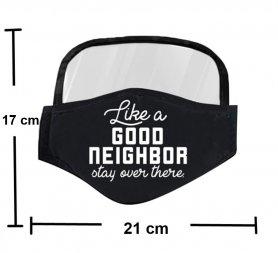 Máscara con escudo protector en los ojos - Buen vecino