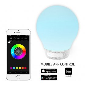 AuraBulb - Difuzor inteligent Bluetooth 5W cu LED RGB