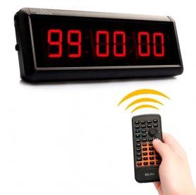 Horloge à rebours LED pour les sports tels que la remise en forme, la natation, l'athlétisme - 29cm de large