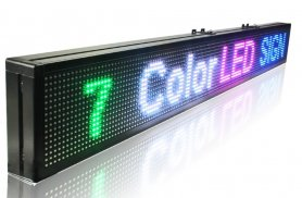 LED panel display 7 colors programmable - 100 cm x 15 cm