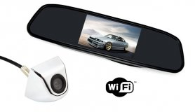 "Reversing wifi set: Rear view mirror with 4,3 ""LCD + rear view camera"