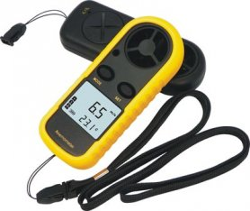 Anemometer (wind speed meter) + Thermometer