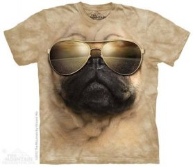 Eco T-shirt - Aviator pug