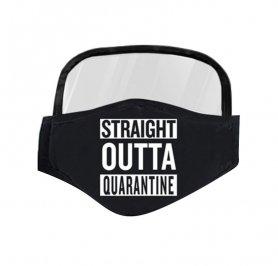Maschera con uno scudo trasparente - Direttamente fuori dalla quarantena