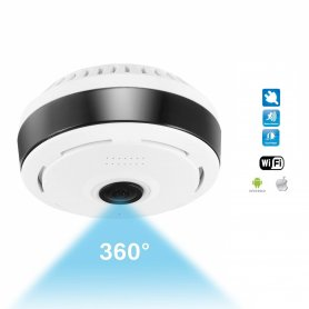 360° panoramic WiFi camera with HD resolution + IR LED