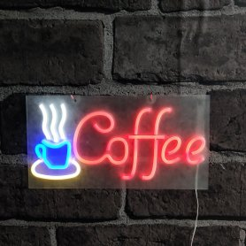 Insegne luminose COFFE - Lavagna LED neon