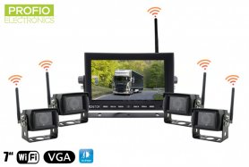 "Inversione set camera car - 7 monitor di WiFi ""LED + 4x telecamera wireless"