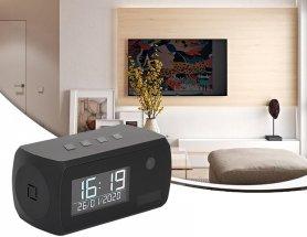 フルHD + IR LED + WiFi +モーション検知+ 1年のバッテリー寿命を備えたアラーム付き時計カメラ