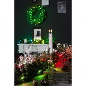 Vánoční svítící věnec s LED - 50ks RGB + W - Twinkle Wreath + BT + Wi-Fi