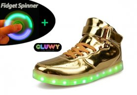 Zapatillas de deporte LED luminoso - Oro