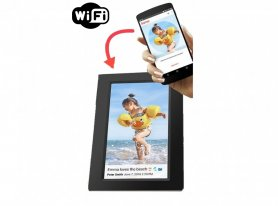 "Cornice digitale touchscreen con WiFi - display da 7 ""+ memoria da 8 GB e controllo app mobile"