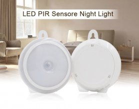LED round light powered by 3x 1,5V AAA batteries + motion sensor