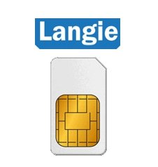 Langie Global SIM 3G-Karte (Daten- / Telefonkarte)