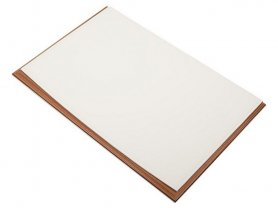 Luxury desk mat - Leather and wooden made for office