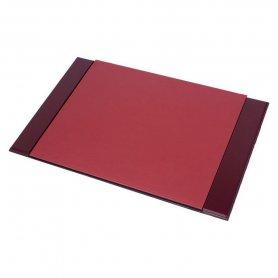 Luksusowy zestaw akcesoriów biurowych 8 szt na stół roboczy (orzech + skóra bordo)