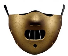 HANNIBAL LECTER face mask protective - 100% polyester