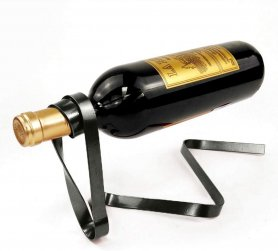 Luksuzno držalo za steklenice vina - stojalo za vino iz traku