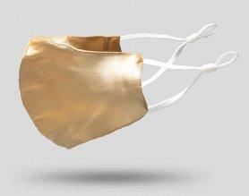 Luksuzne maske za obraz 100% murva svila - zlato