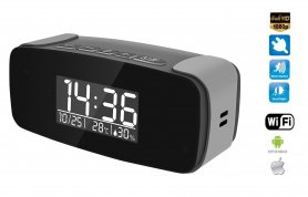 Alarm clock with FULL HD camera with IR LED + WiFi + P2P + Air monitoring