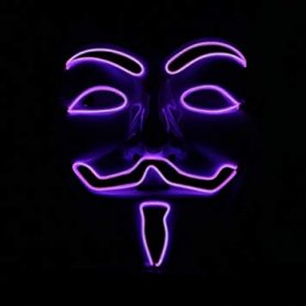 Vendetta mask LED - purple
