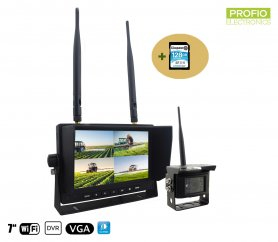 "Set telecamera di backup wireless - 1x telecamera + monitor LCD da 7 ""con registrazione DVR (audio + video) + scheda SDXC da 128 GB"