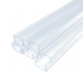 50 cm - Plastic mounting guide rail for light LED strips