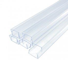 50 cm - șină de ghidare de montaj din plastic pentru benzi cu lumină LED