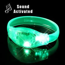 Pulsera intermitente de fiesta LED - verde