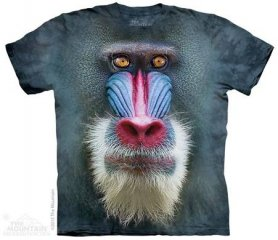 3D animal shirt - Baboon