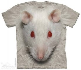 3D batik shirt - White Rat