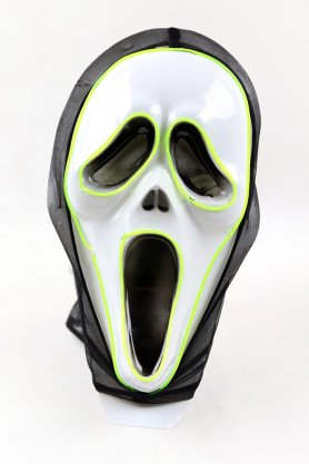 Halloween Masken mit LEDs - Scream