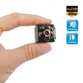 Micro FULL HD camera with motion detection and 4 IR LED