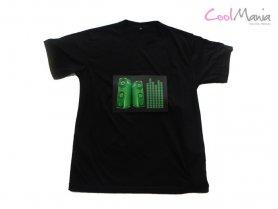 Led T-shirt - Haut-parleur vert