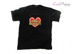 Led T-shirt - Joyeux anniversaire
