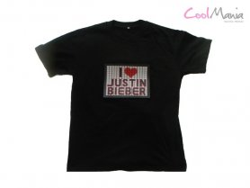 Justin bieber t-shirt with LED