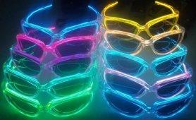LED Brille - Gelb