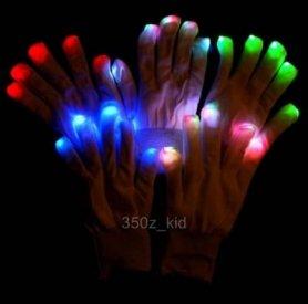Rękawice LED - biała