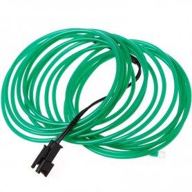 Толстый провод неон 5,0 мм - темно-зеленый