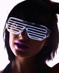 Óculos LED com grelha de festa - rosa