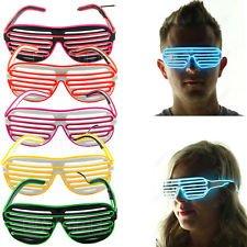 Óculos LED de festa para waffle - Amarelo