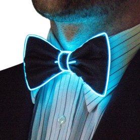 Neon bow tie za moške - modra