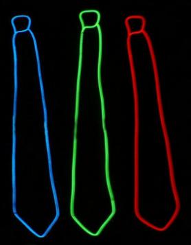 चमकती टाई - लाल