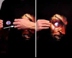 Halloween Morph shirt - œil effrayant