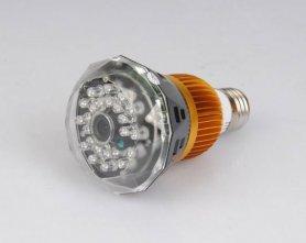 IR +動体検知+サウンドコントロール付き電球スパイカメラ