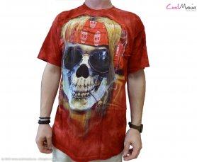Batik shirt - Rocker Skull