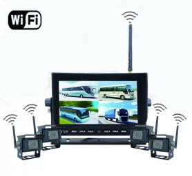 "Cúvacia kamera s monitorom Set - Wifi 7"" LED monitor + 4x WiFi kamera"