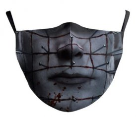 HELLRAISER mask on the face - 100% polyester