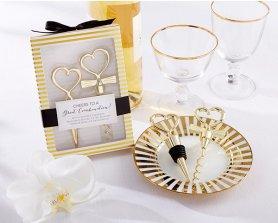 Zlati dekorativni vinski set - zamašek in odpirač